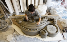 London Hippodrome restoration - modeling in clay