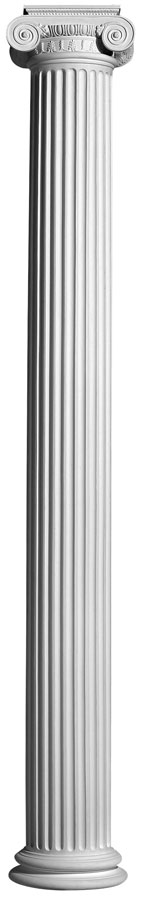 Plaster Columns (Fluted): COL2 - Round Ionic