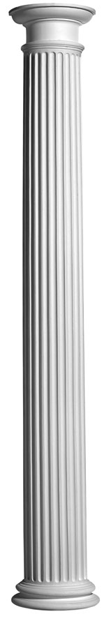 Plaster Columns (Fluted): COL3 - Round Tuscan