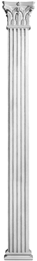 Plaster Columns (Fluted): COL5 - Square Corinthian